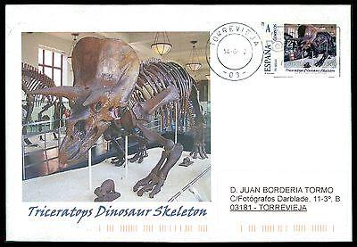 Dinosaurier-custom (SPAIN DINOSAUR DINOSAURE DINOSAURIER - CUSTOM STAMP - ONLY 5 COVER MADE!! cg40)