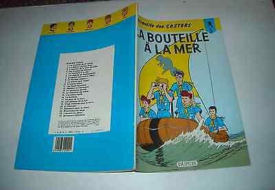 LA PATROUILLE DES CASTORS LA BOUTEILLE A LA MER N°5 1984