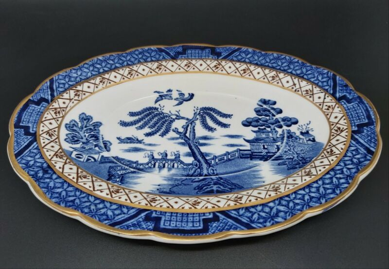 Booths Real Old Willow Oval Under Plate For Gravy Boat Replacement A8025