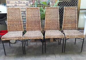 4 WATER HYACINTH DINING CHAIRS Upper Kedron Brisbane North West Preview