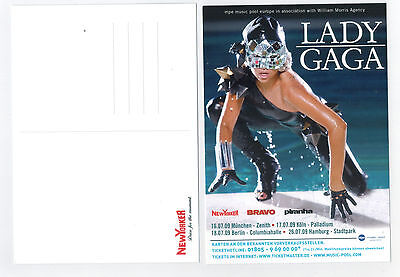 LADY GAGA - Promo Flyer Neu Postkartengröße