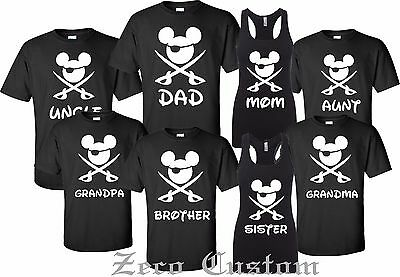 Disney FAMILY Pirate Minnie & MICKEY - Mouse Customized Printed T-shirt - Pirate Customs