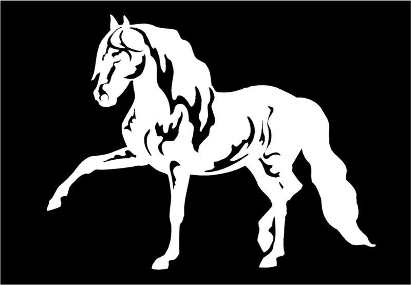 Horse Decal Andalusian Show Horses Car Truck Window Trailer Vinyl Sticker