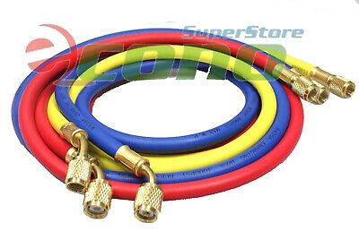 60 R410a High-pressure Refrigerant Charging Color Hoses 800psi 14 38 Flare