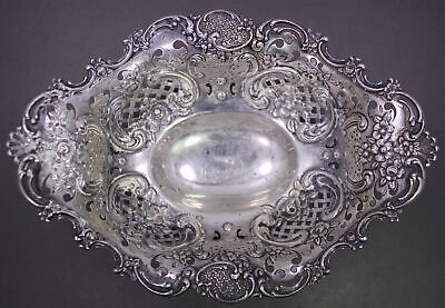 Antique Tiffany & Co. Monogrammed Sterling Silver Footed Dish (1892-1902)