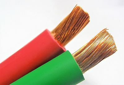 50 20 Welding Battery Cable 25 Red 25 Green Edpm 600v Usa Heavy Duty Copper