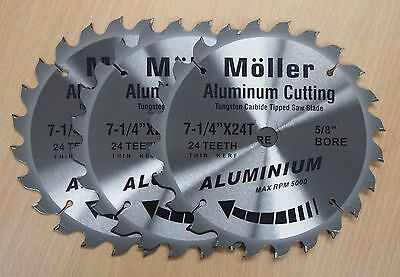 Lot Of 3 7-14 X 24t Aluminum Cutting Circular Saw Tct Blade
