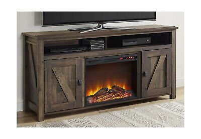 Ameriwood Home TV Console Stand Electric Fireplace Farmingto