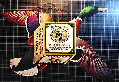 Winchester Duck Nublack Shotguns Shells Hanging Die-Cuts