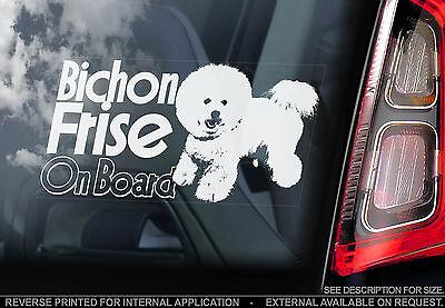 Bichon Sticker - Bichon Frise - Car Window Sticker - Bichon à poil frisé Dog on Board Sign - TYP2