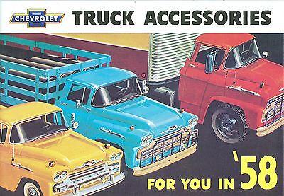 Chevrolet Truck Accessories Brochure - 1958 CHEVROLET TRUCK  GENUINE ACCESSORIES BROCHURE