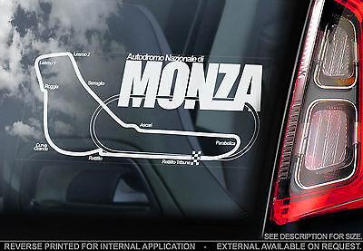 Monza - F1 Car Window Sticker - Autodromo Nazionale Track Sign Formula 1 Map