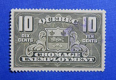 1934 10C Canada Quebec Unemployment Relief Tax Revenue Vd  Qu2 B  2 Used Cs32390