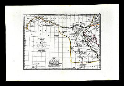 1818 D'Anville Map Ancient Egypt Libya Pyramids Alexandria Memphis Thebes Nile