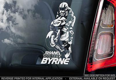 Shane 'Shakey' Byrne #67 - Superbike Car Window Sticker - BSB Motorbike Sign Art