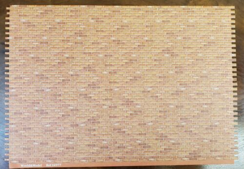 Dollhouse Miniature Red Orange Brick Seamless Embossed Paper 1:12 Scale