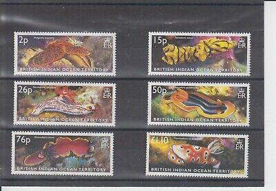 British Indian Ocean Territory 2003 Sea Slugs 6v MNH
