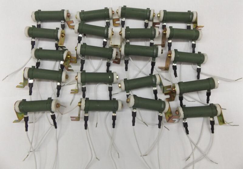 100 Ohm 20W Tubular Fixed Wirewound Resistor - BOX OF 50