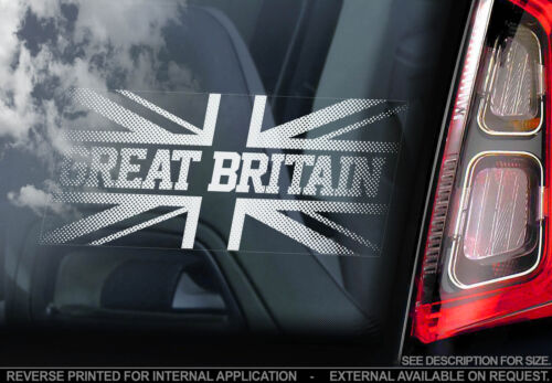 Great Britain -Car Window Sticker- Union Jack England Decal United Kingdom UK V1