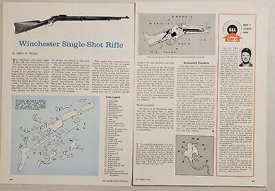 1966 Magazine Photo Article Winchester Lever-Action Single-Shot Rifles