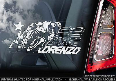 Jorge Lorenzo #99 - Moto GP Car Window Sticker - Yamaha Superbike MotoGP - TYP1