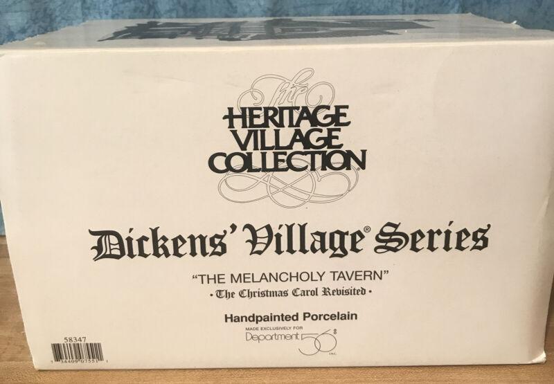 "Dept 56 -Dickens Village- A Christmas Carol- ""Melancholy Tavern "" #58347 Retired"