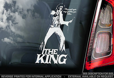 Elvis Presley - Car Window Sticker - The King Rock'n'Roll Music Sign Decal - V03