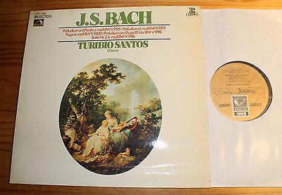 Turibio SANTOS plays BACH LP EMI Erato