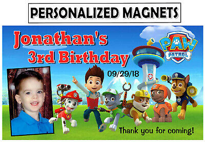 12 PAW PATROL BIRTHDAY PARTY FAVORS PHOTO MAGNETS Birthday Party Favors Photo