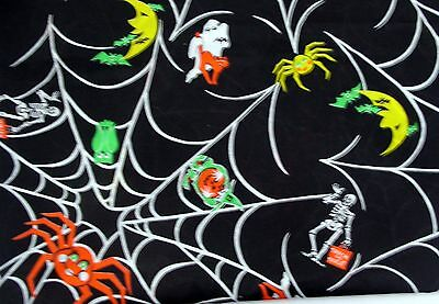 Marcus Brothers Texiles cotton fabric Halloween BTY ghost witch spider F143](Marcus Brothers Halloween Fabric)