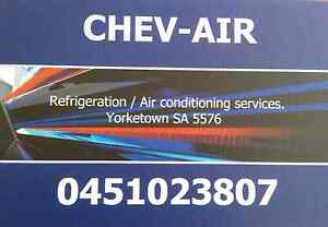 CHEV-AIR REFRIGERATION AND AIR CONDITIONING SERVICES. Yorketown Yorke Peninsula Preview