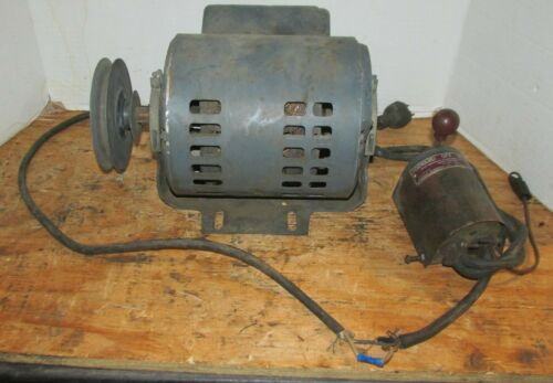 Vintage GE General Electric 1/2 HP Motor  w/Furnas Forward Reverse Switch LQQK!