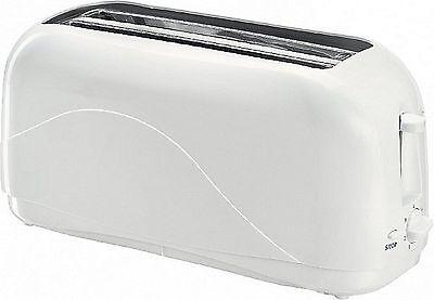 Toaster 4 Scheiben mit Krümelschublade Langschlitz Toster Toastautomat 1500 Watt