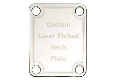Custom Laser Etched Guitar Neck Plate with your text