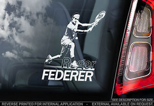 Roger Federer - Car Window Sticker - Tennis RF Switzerland Sign