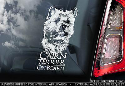 Cairn Terrier - Car Window Sticker - Scottish Highland Dog Sign Art Print Gift
