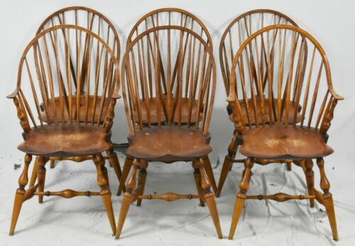 Set of 6 Warren Chairs Works Windsor Bow Back Windsor Chairs Made Rhode Island