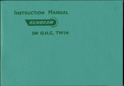Sunbeam S7 S8 Instruction Manual 1950 by Sunbeam Motorcycles Reprinted