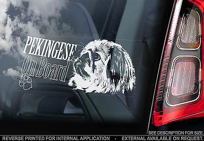 Pekingese - Car Window Sticker - Lion Dog Art Sign Chinese Spaniel Peke - TYP1