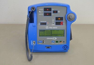 Ge Dinamap Pro 400v2 Vital Signs Monitor Bp Spo2 Temp 16465 A14