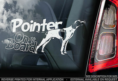 Pointer - Car Window Sticker - English Pointer Gun Dog Sign, Gift Print Art