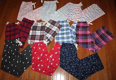 Plaid Pajamas (NWT GAP Women's LOVE GapBody Flannel Pajama Lounge Pants Llamas Penguins)