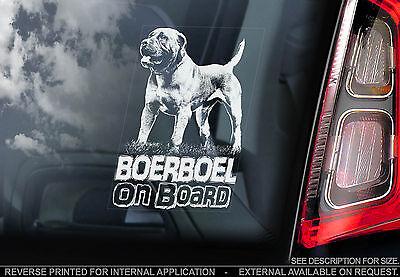 Boerboel - Car Window Sticker - South African Mastiff Dog on Board Sign - TYP1