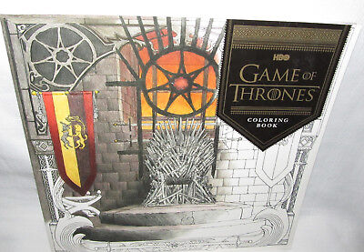 New Hbo Game Of Thrones Original Adult Illustrated Coloring Book Chronicle Books