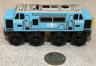 THOMAS & FRIENDS Wooden Railway Train D199 Blue Diesel Engine Brio Compatible
