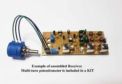 Simple 3-bands Ham radio receiver 7,14,21MHZ.KIT DiY. ()
