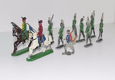 10 Stück Zinnsoldaten Zinnfiguren Soldaten in Uniform 1.WK Sammlung Konvolut a)
