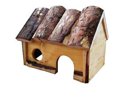 Casa de madera artesana para cobayas, conejos enanos u otros roedores