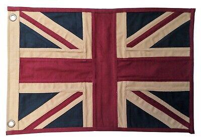 United Kingdom UK Union Jack Fully Sewn Aged & Vintage-Look Flag 49cm x 33cm Union Jack Vintage