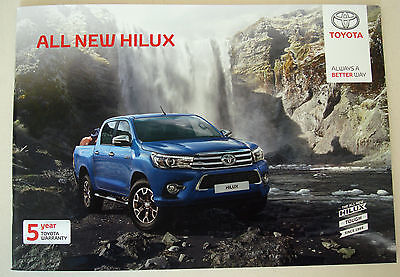 Toyota . Hilux . All New Hilux . October 2016 Sales Brochure